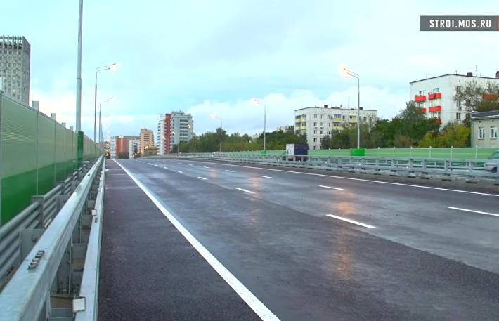 Эстакада у Щелковского автовокзала поехала