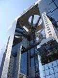 Самый высотный эскалатор в мире в здании Umeda Sky Building в Осаке