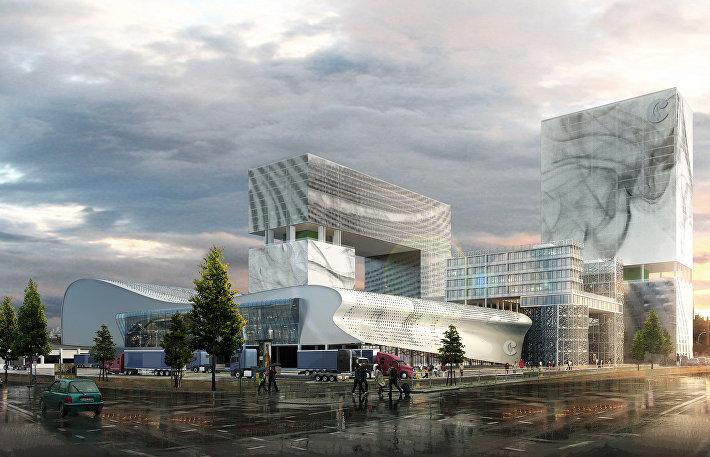 Проект здания TOBACCO COMPANY LOGISTICS CENTER в городе Шэньчжэнь, Китай
