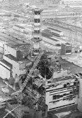 Разрушенный реактор Чернобыльской АЭС