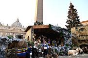 Вертеп на площади Святого Петра в Ватикане