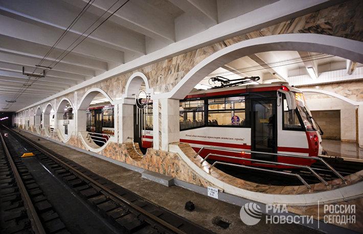 Работа трамваев в Волгограде