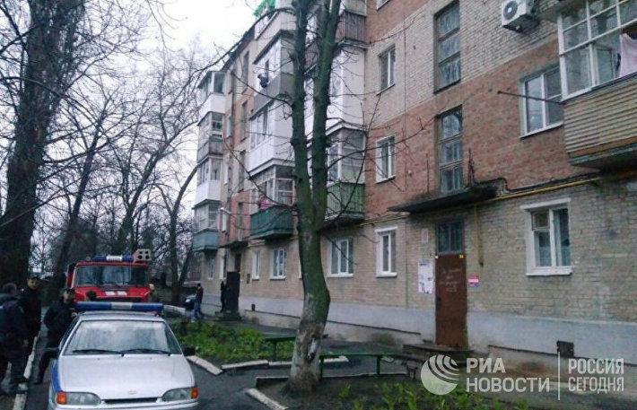 Взрыв в жилом доме в Таганроге