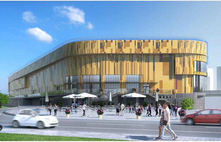 Проект трехэтажного торгового центра на Ленинском проспекте, 123. Девелопер MD Group.