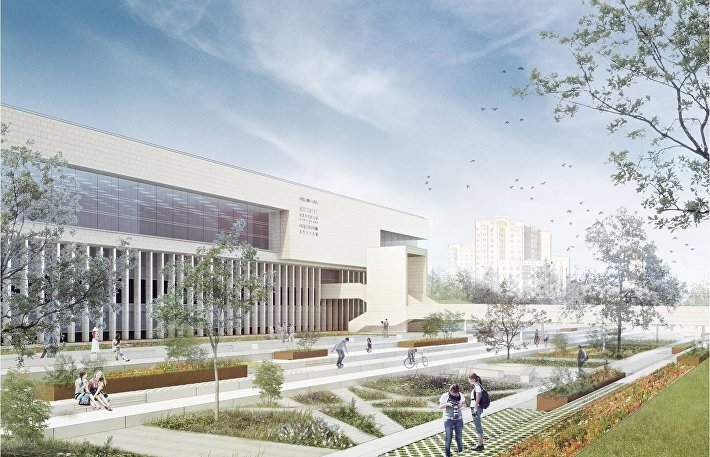 Проект благоустройства терриотрии библиотеки ИНИОН