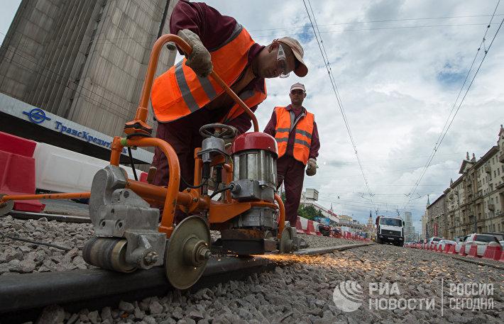 Модернизация трамвайных путей в Москве