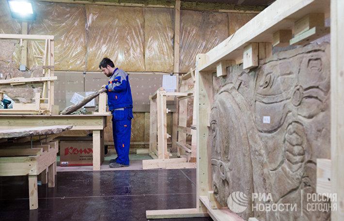 Реставрация барельефов для стадиона ВТБ Арена Парк в Москве