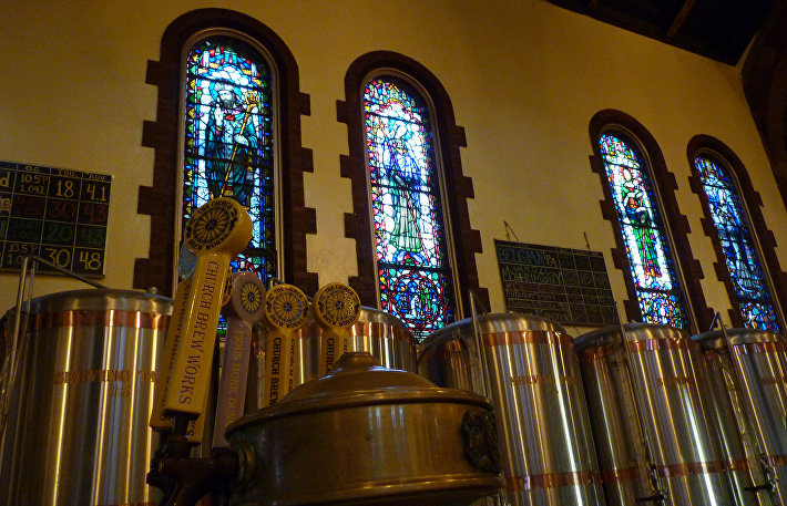 Церковь с пивоварней The Church Brew Works в Питсбурге