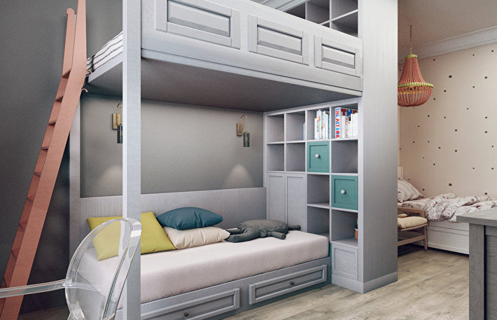 Личное детское: как обустроить пространство для ребенка в однокомнатной квартире